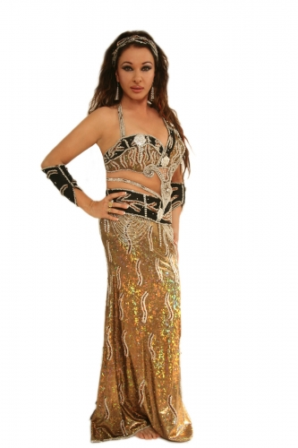Belly dance costume - Golden Star