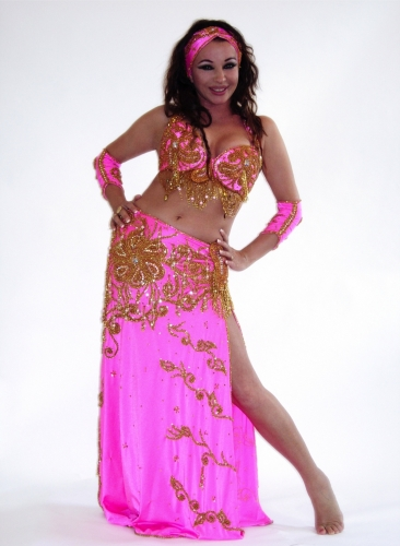 Belly dance costume - Busy Pink Lady