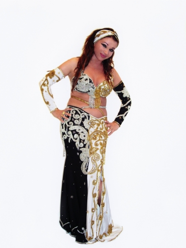 Belly dance costume - Black and White