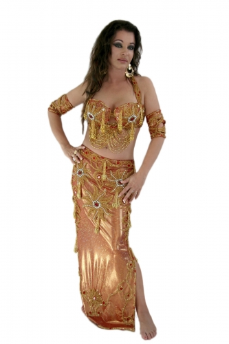 Belly dance costume - Red Sun