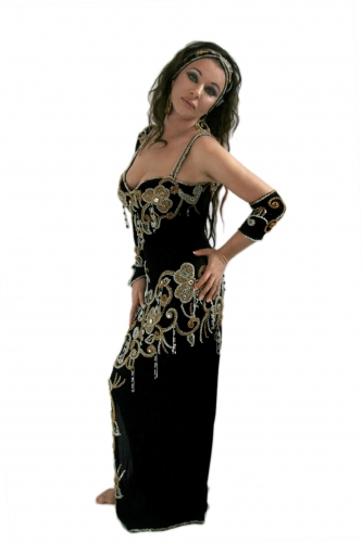 Belly dance cabaret dress - Ebony Star