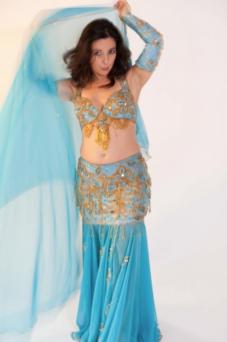 Belly dance costume - Aqua Spectacular