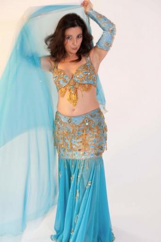 Belly dance costume - Aqua Spectacular