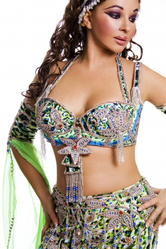 Belly dance cabaret costume - Rainforest Celebrity
