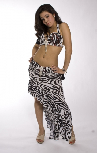 Belly dance costume - Madame Ze-Bra