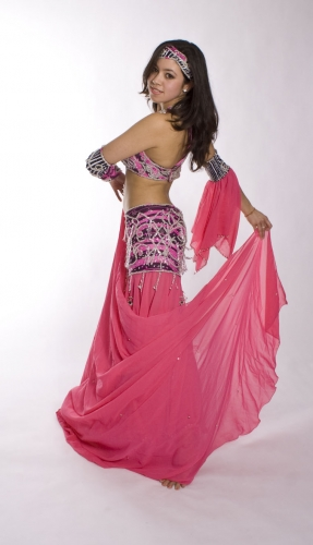 Belly dance cabaret costume - Zebra of Passion