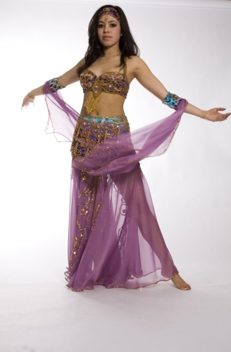 Belly dance cabaret costume - Princess Tigra