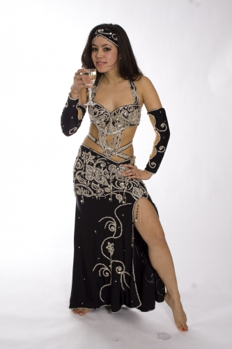Belly dance costume - Black Tiffany