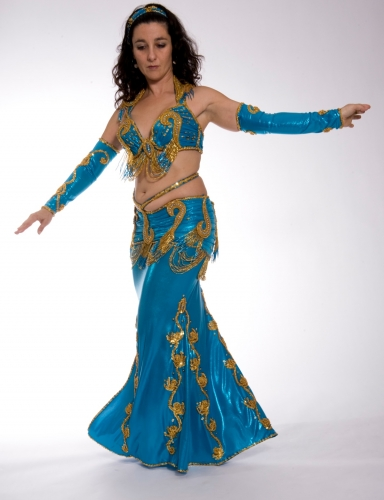 Belly dance costume - True Turquoise