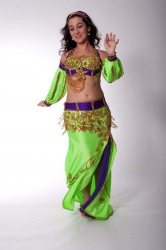 Belly dance costume - Neon Art