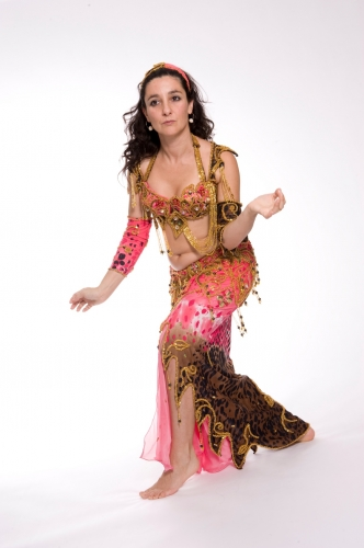 Belly dance cabaret costume - Queen Tigra