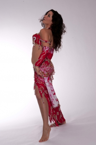 Belly dance cabaret costume - The Love Joker