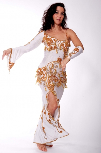 Belly dance cabaret dress - Snow White