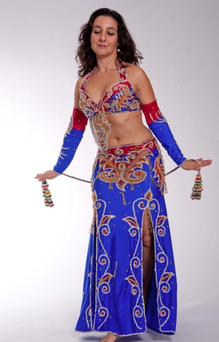 Belly dance costume - Wonder Woman