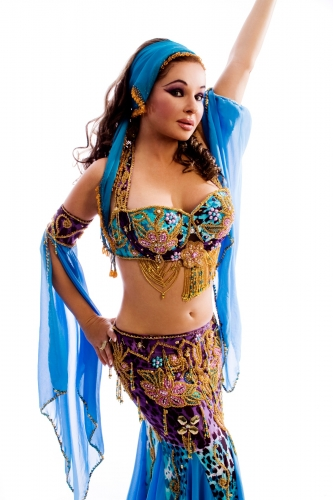 Belly dance cabaret costume - Treasure Fall