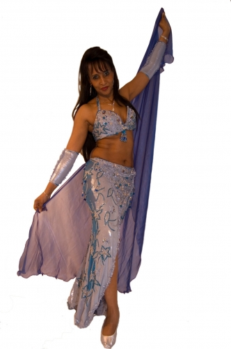 Belly dance costume - Metallic Sea Fairy