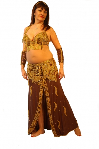 Belly dance costume - Chocolate Truffle