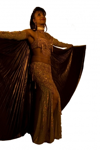 Belly dance costume - Gold