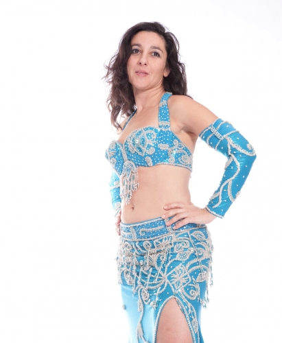 Belly dance costume - Frozen Beauty