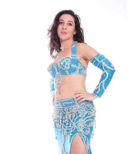 Belly dance costume - Frozen Beauty