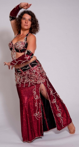 Belly dance costume - Vampire Kiss