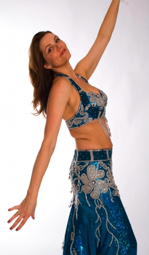 Belly dance costume - Metallic Ocean Wonder