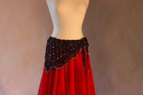 Belly dance fully crocheted beaded belts