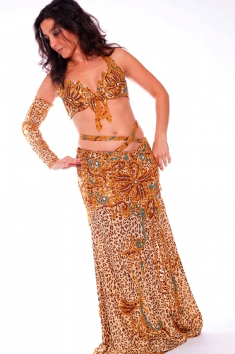 Belly dance costume - Lili Leopard