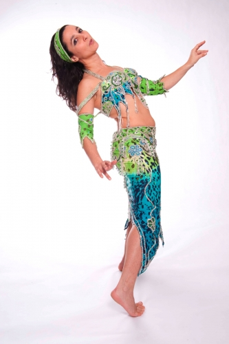 Belly dance cabaret costume - Jungle Princess