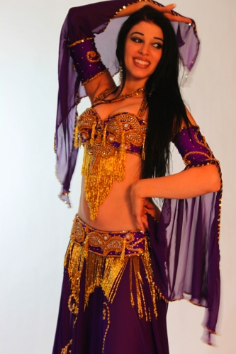 Belly dance costume - Samia Butterfly