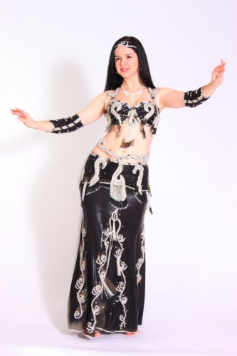Belly dance costume - Midnight Swirl