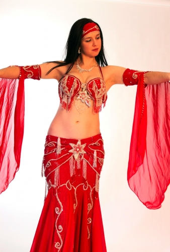 Belly dance costume - Galaxy of Red