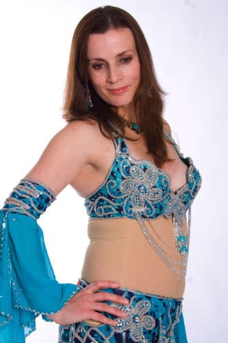 Belly dance cabaret costume - Sea Tiger