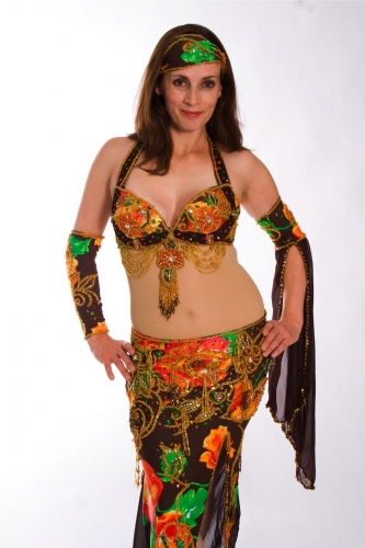 Belly dance cabaret costume - Holiday