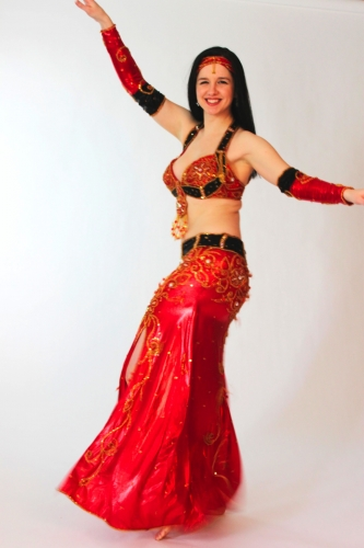 Belly dance costume -Glorious Red