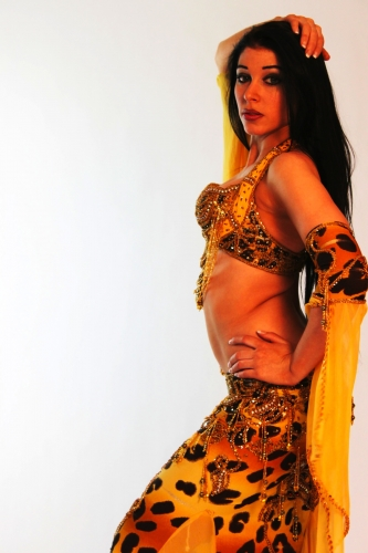Belly dance cabaret costume - Safari Sunrise