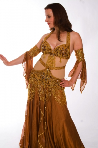 Belly dance costume - Gold on Gold