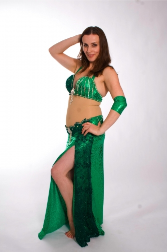 Belly dance costume - Jungle Jewelery