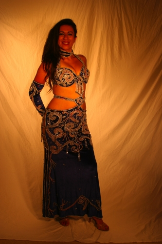 Belly dance costume Velvet Spell