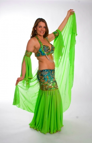 Belly dance cabaret costume - Waterfall of Wildness