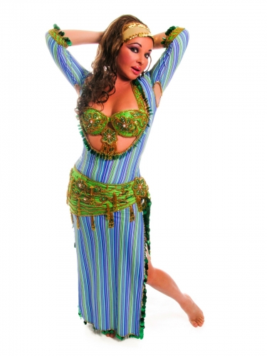 LARGE Version of Belly dance special sa'idi dress/galabia - Pins