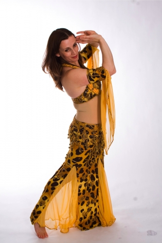 Belly dance cabaret costume - Savanna Sunrise