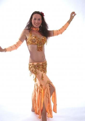 Belly dance costume - Egyptian Lamp Light