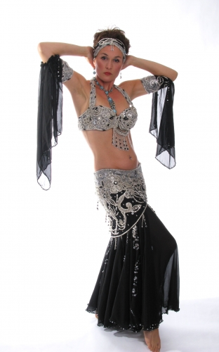 Belly dance cabaret costume - Royal Thunder