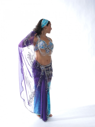 Belly dance cabaret costume - Waterfall of Dreams
