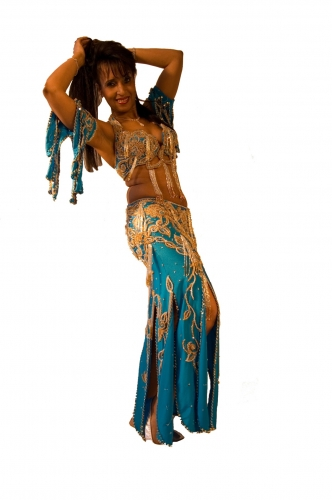 Belly dance costume - Water Baby