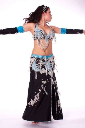Belly dance costume - Moonlit Blue