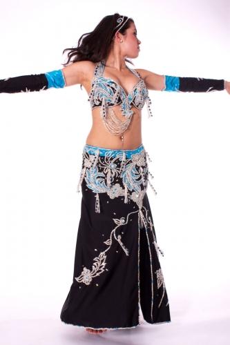 Belly dance costume - Moonlit Blue