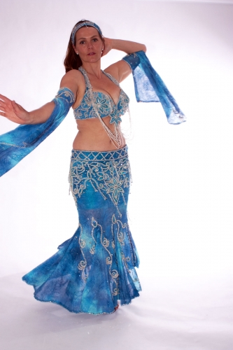 Belly dance costume - Marine Magic