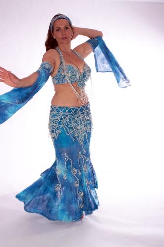 Belly dance costume - Marine Magic